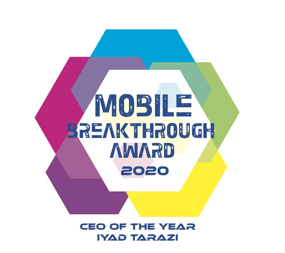 CEO of the Year Mobile Breakthrough Awards Winner Badge Federated Wireless